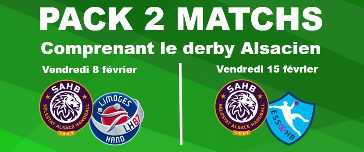 Pack 2 matchs dont le derby face à ESSAHB
