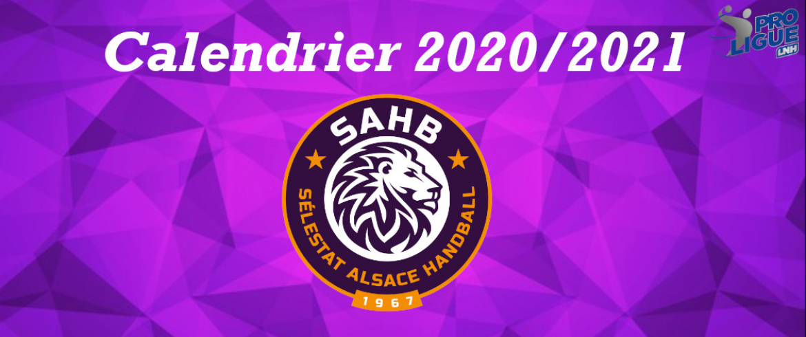 Calendrier Proligue 2020/2021